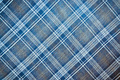 Texture of checkered fabric in blue throughout the entire plane of the frame