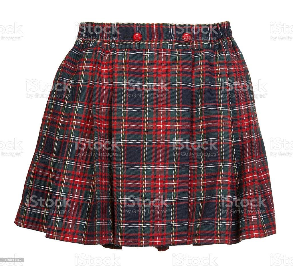 Plaid red feminine skirt royalty-free stock photo