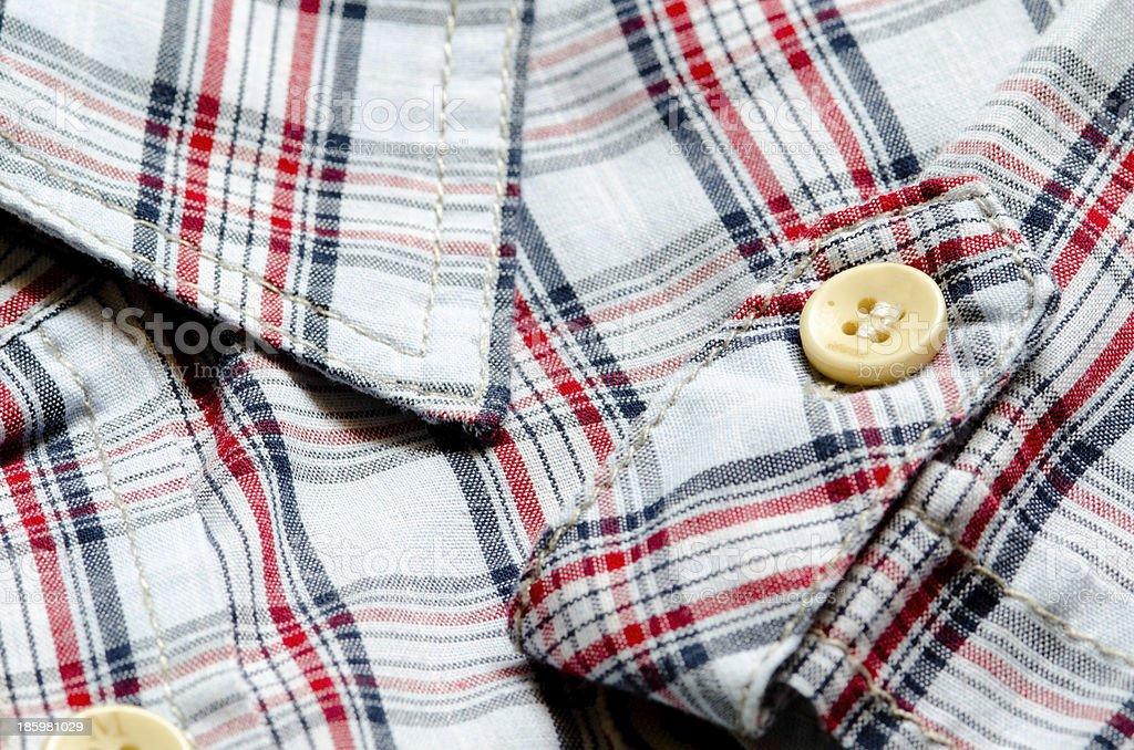 Plaid shirt close up royalty-free stock photo