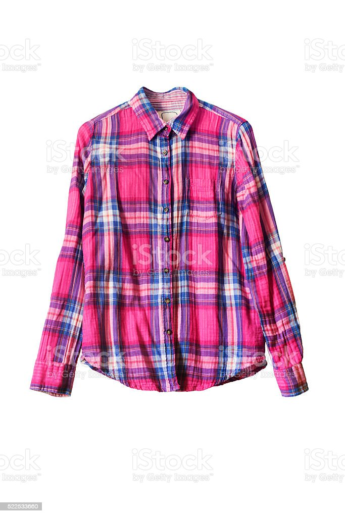 Plaid shirt stock photo