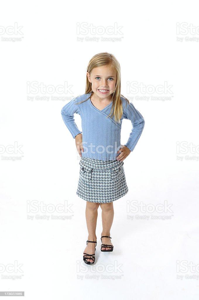 Plaid Skirt Girl royalty-free stock photo