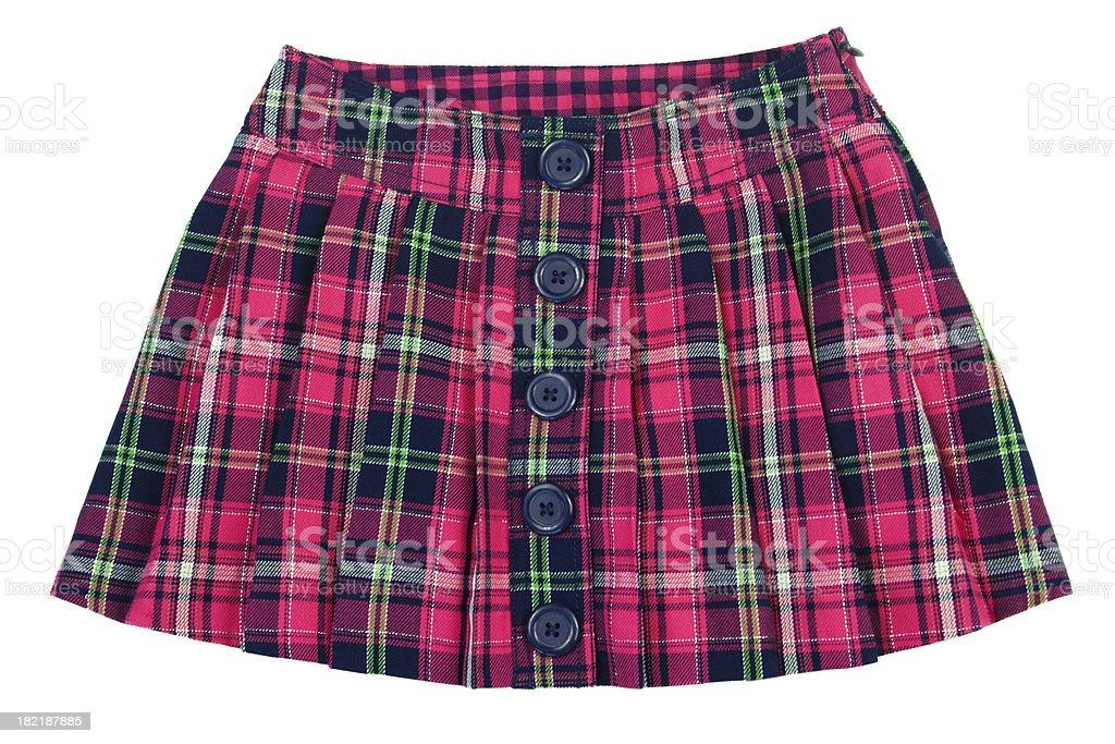 Plaid skirt royalty-free stock photo