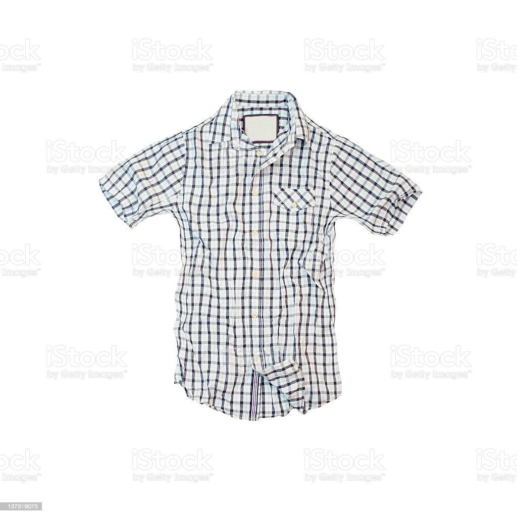 Plaid Summer Shirt on White Background royalty-free stock photo