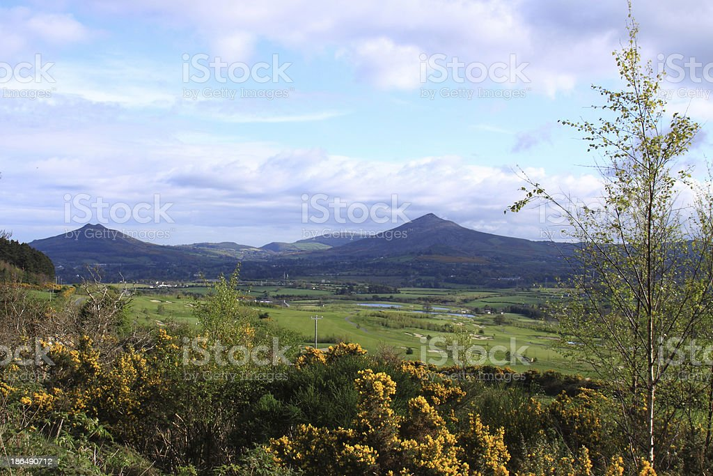 Plain at the foot of Kilmacanogue Hill stock photo