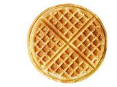 plain belgium american waffles isolated