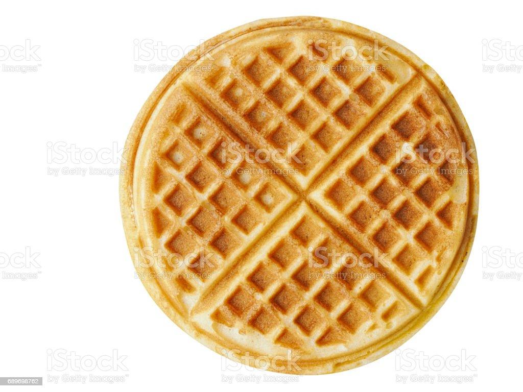 plain belgium american waffles isolated stock photo
