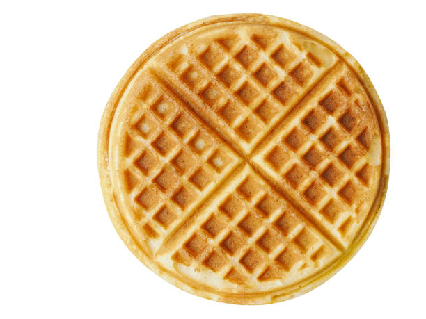 plain belgium american waffles isolated close up of plain belgium american waffles isolated waffle stock pictures, royalty-free photos & images