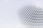 Plain black and white 3D contour hexagon blocks