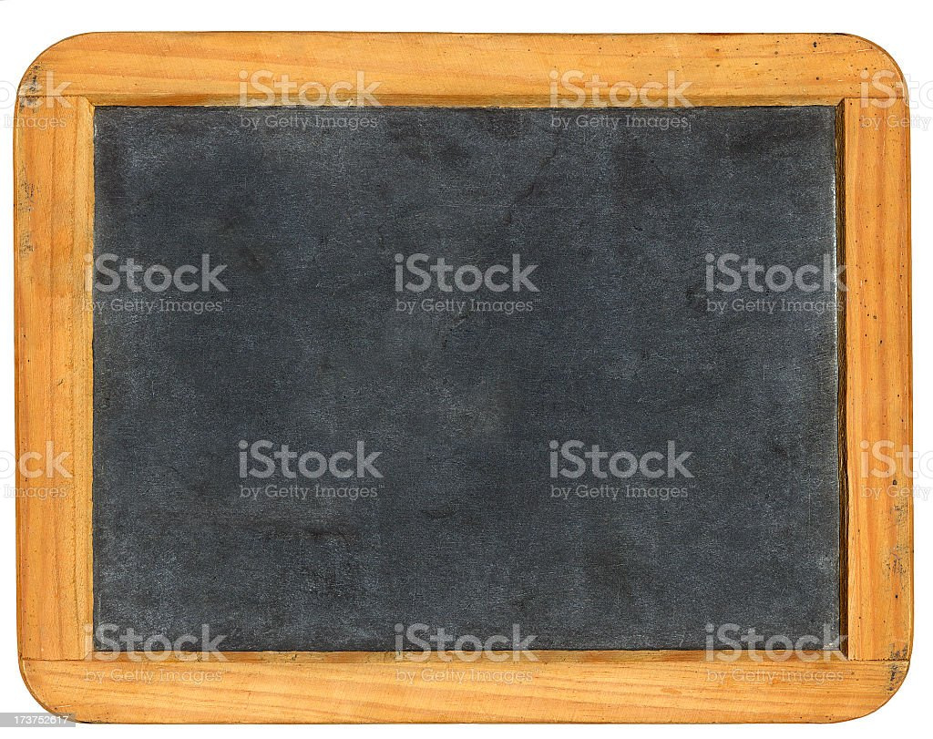 Plain blackboard with a brown wooden frame royalty-free stock photo
