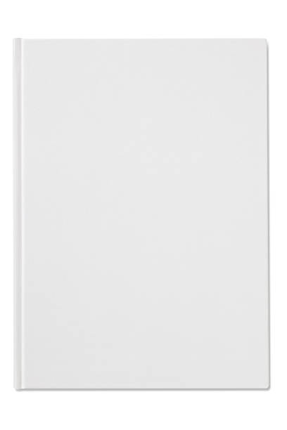 Plain blank white notebook isolated on a white background Blank Book on white background. hardcover book stock pictures, royalty-free photos & images