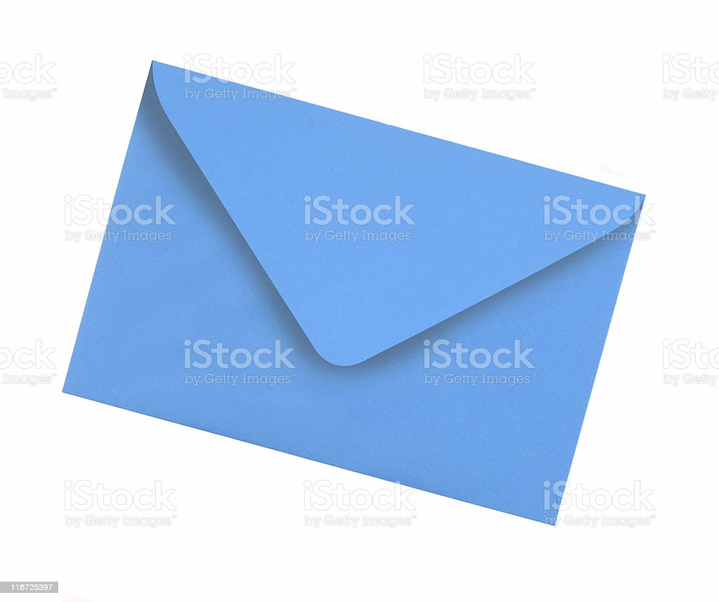 Plain blue envelope stock photo