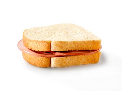 Plain Bologna Sandwich Stock Photo - Download Image Now ...