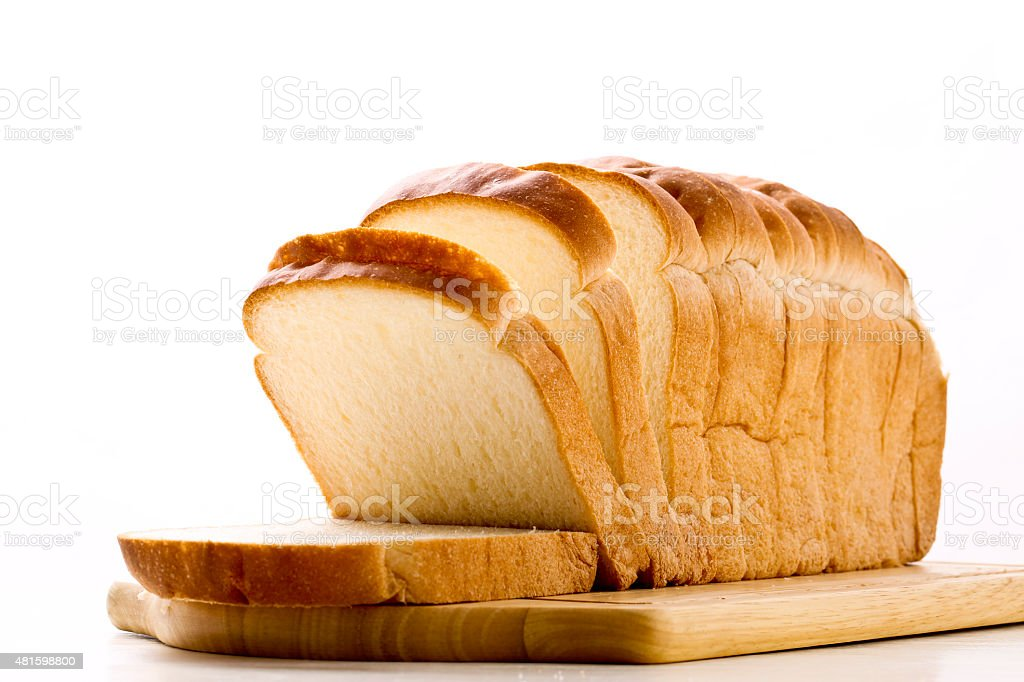 Plain bread stock photo
