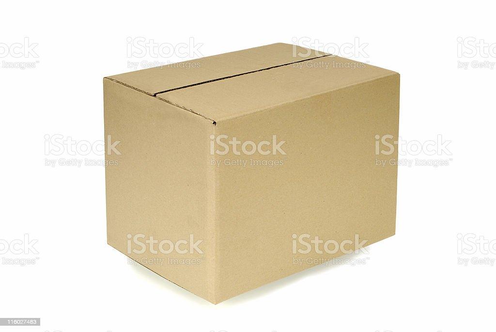 Plain brown cardboard box royalty-free stock photo
