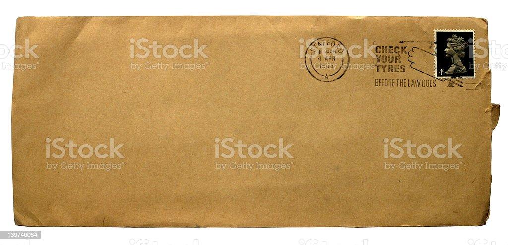 Plain brown envelope royalty-free stock photo