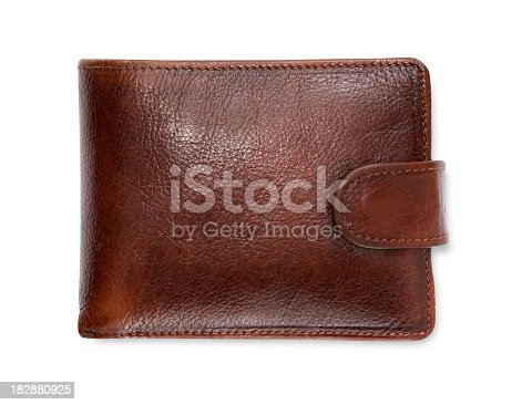 Photo of a brown leather wallet