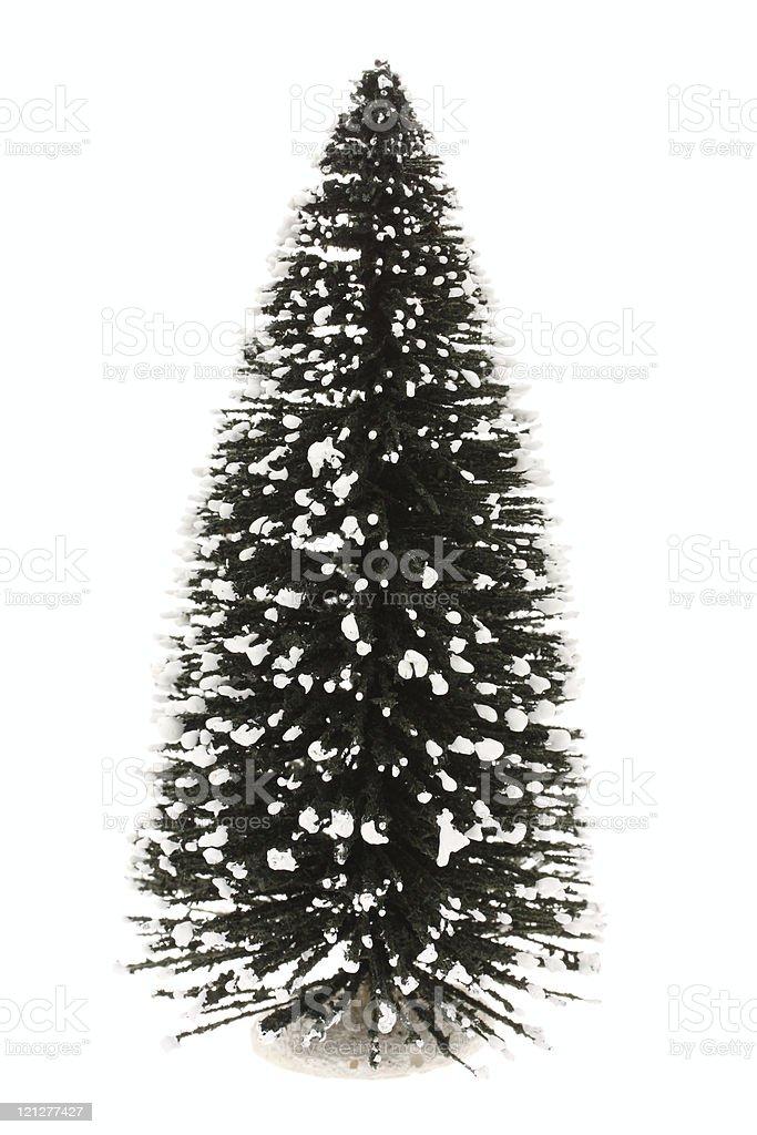 Plain Christmas tree royalty-free stock photo