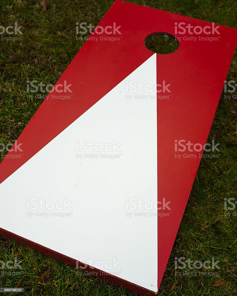 Plain Cornhole Toss Game Board stock photo