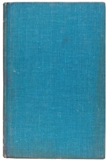 Plain Cover of an Old Blue Book Isolated on White stock photo