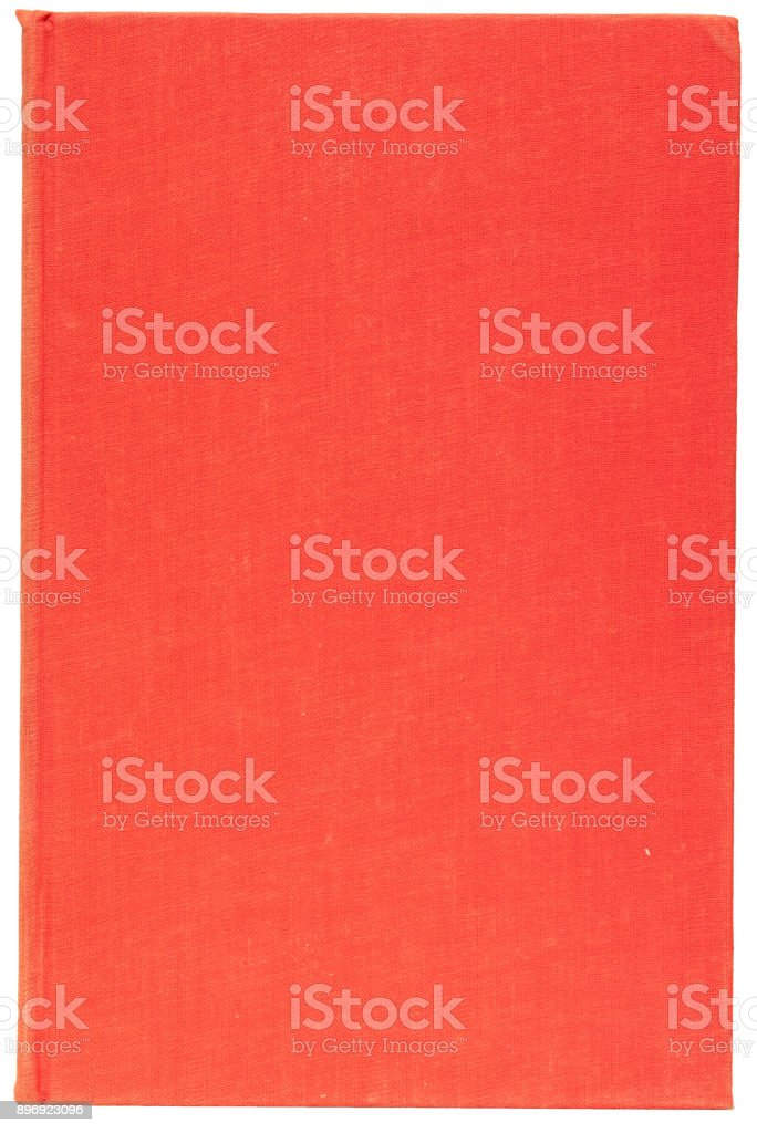 Plain Cover of an Old Red Book Isolated on White stock photo