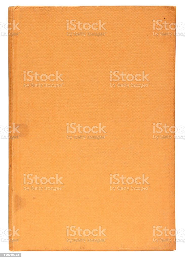 Plain Cover of an Old Yellow Book Isolated on White stock photo