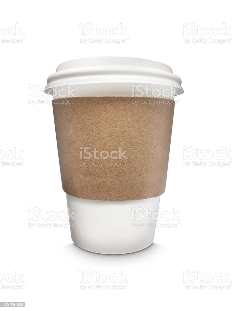 plain disposable coffee cup stock photo