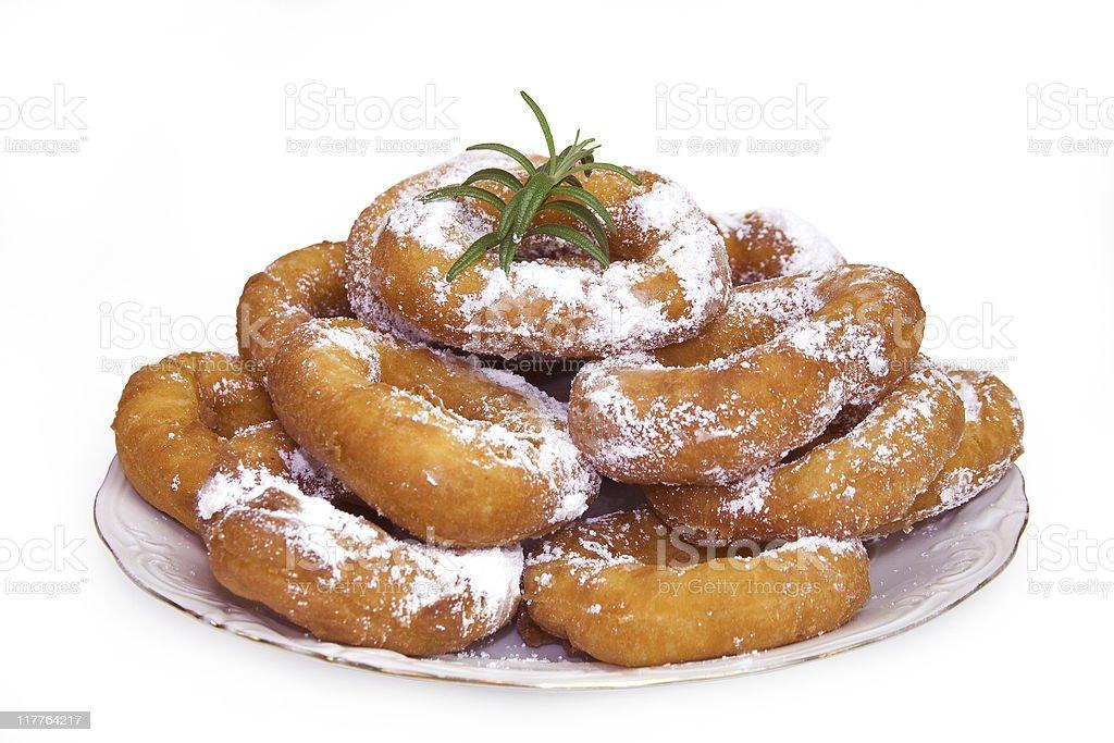 Plain donuts stock photo