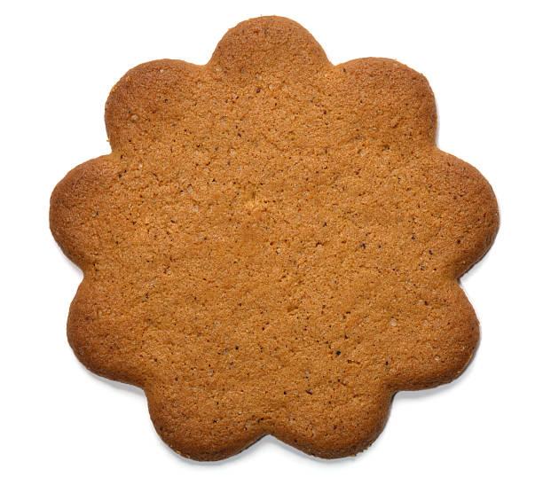 Plain gingerbread cookie with scalloped edge stok fotoğrafı