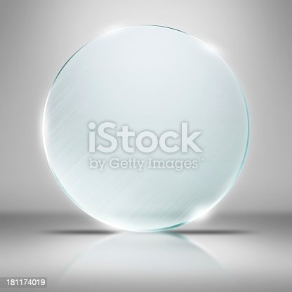 153984410 istock photo Plain glass plate on a white background in dramatic lighting 181174019