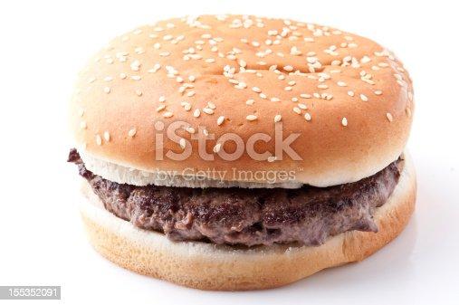 Single plain Hamburger with Natural Shadow