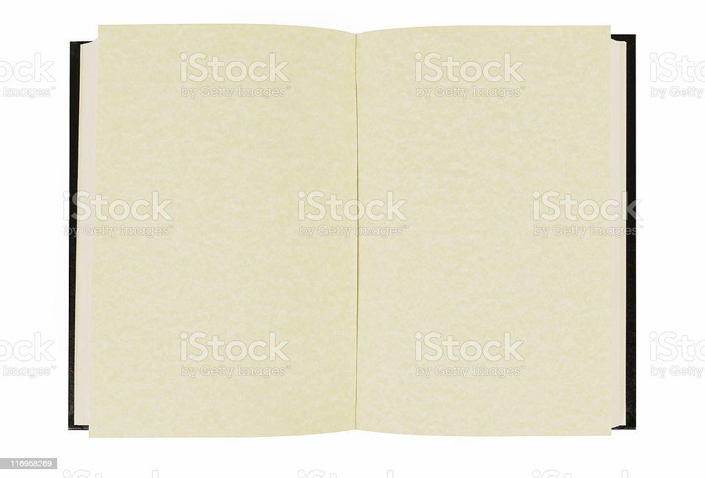 Plain hardback book stock photo