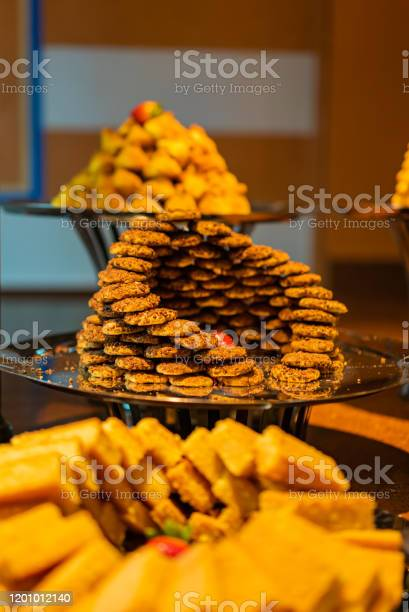 Plain Kahk Traditional Arabian Cookies With Nuts With Shallow Depth Of Field Eastern Cookies Beautifully Served On Metal Plate Traditional Desert In Egypt Stock Photo Download Image Now Istock