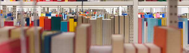 plain library background stock photo