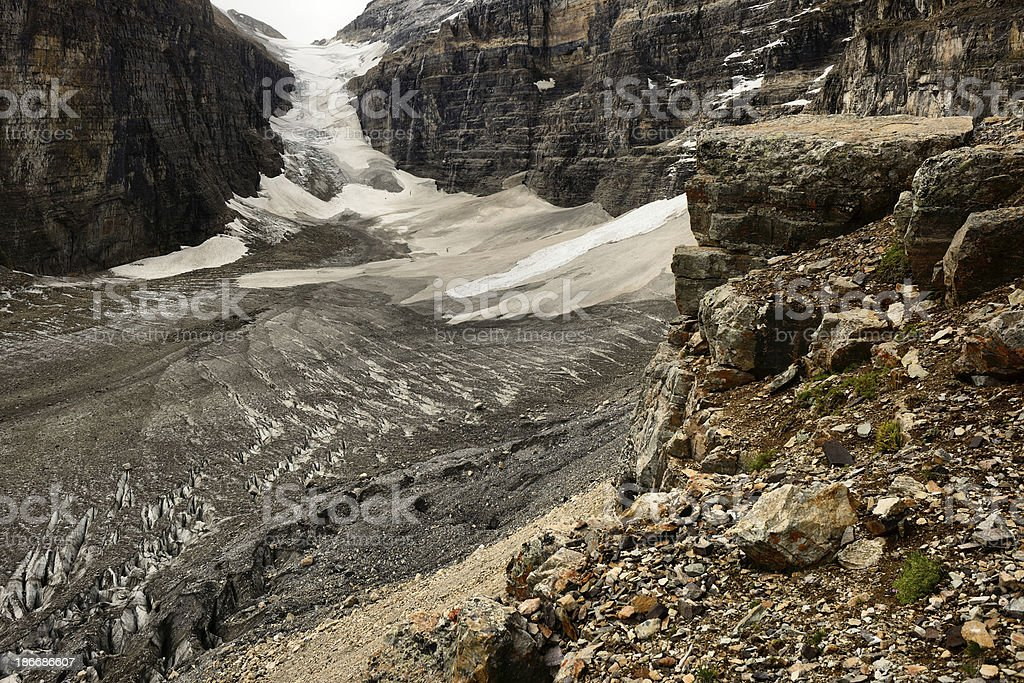 Plain Of The Six Glaciers royalty-free stock photo