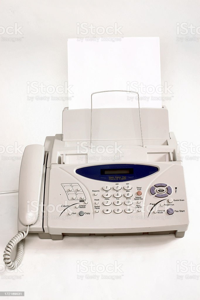 Plain Paper Fax stock photo