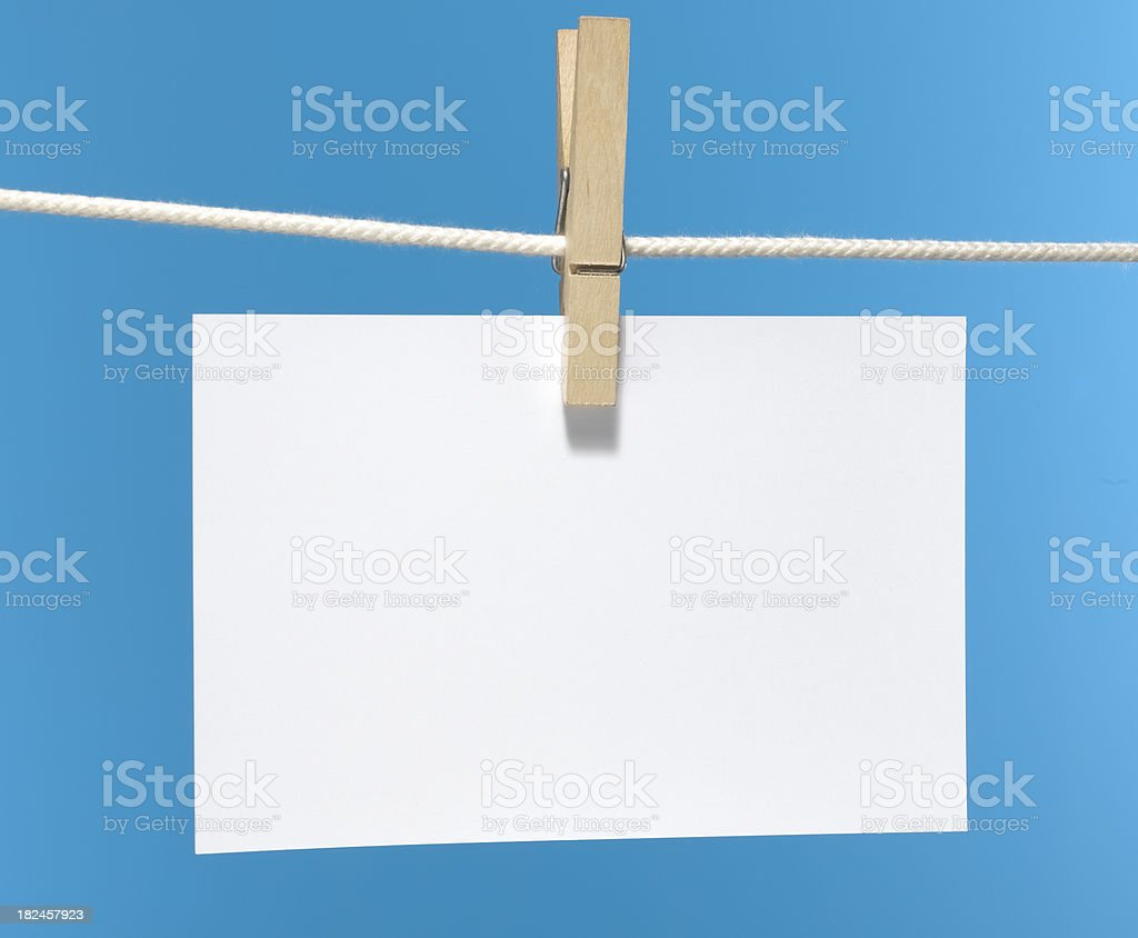 plain paper on blue royalty-free stock photo