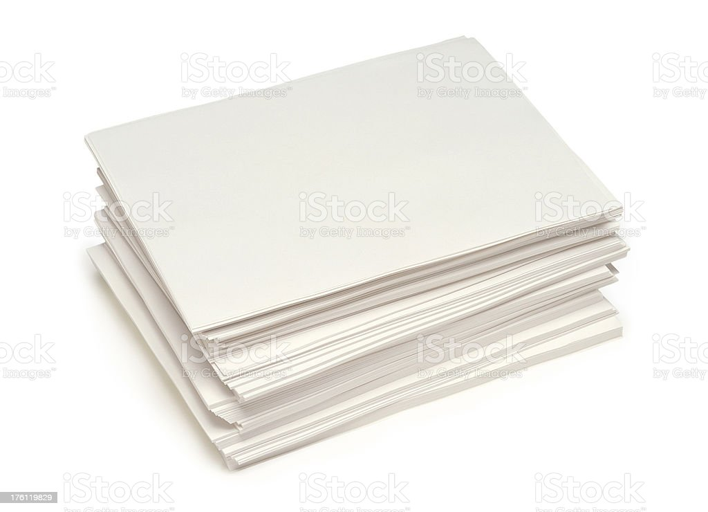 Plain Papers royalty-free stock photo