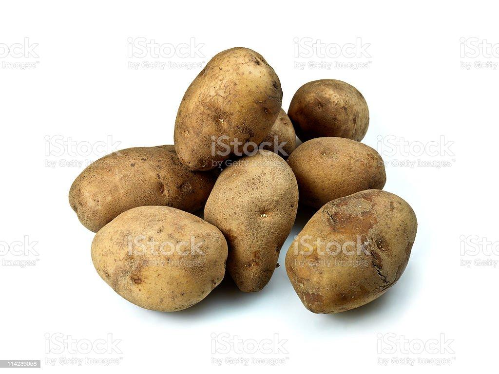 Plain Potatoes stock photo