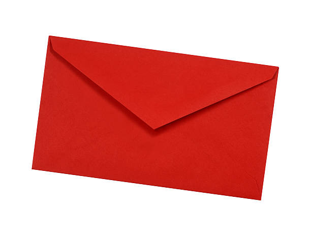 Plain red envelope stock photo