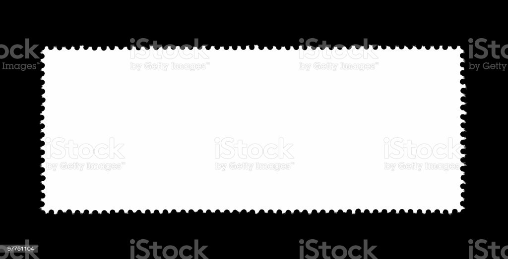 plain stamp silhouette stock photo