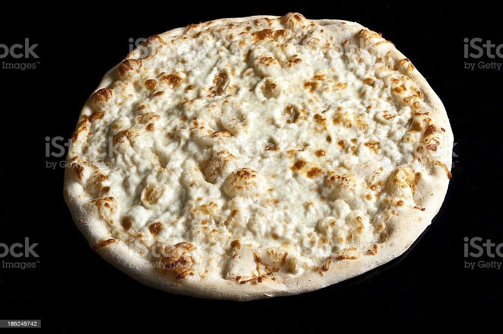 Plain White Cheese Pizza stock photo