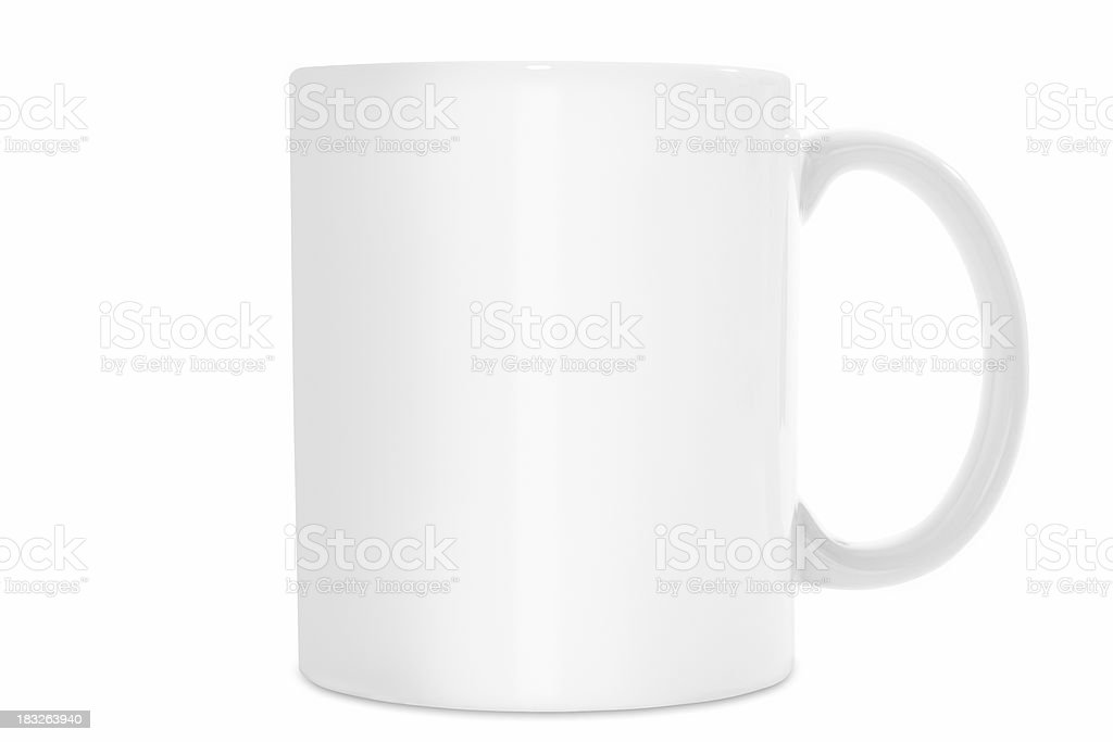 Plain White coffee mug isolated on white background with path royalty-free stock photo