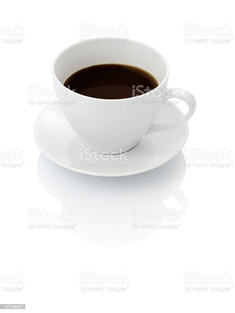 A plain white cup with black coffee inside royalty-free stock photo