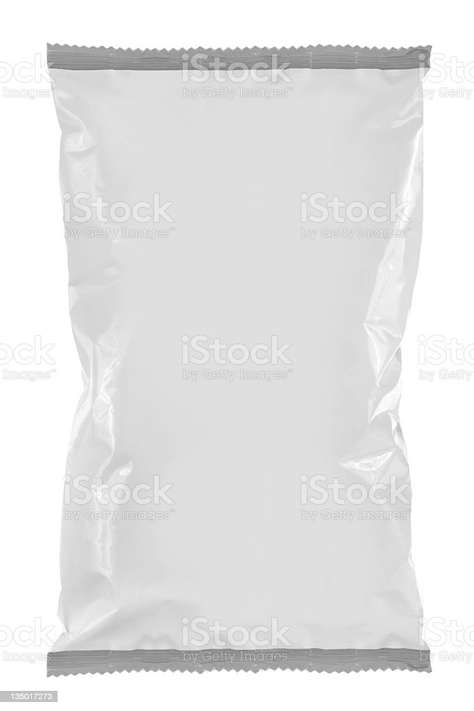 Plain white package for snack food royalty-free stock photo