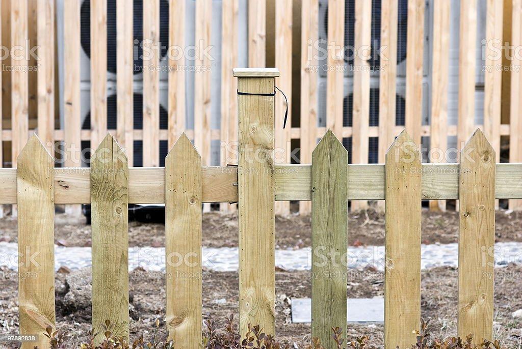 Plain wooden fence of backyards royalty-free stock photo