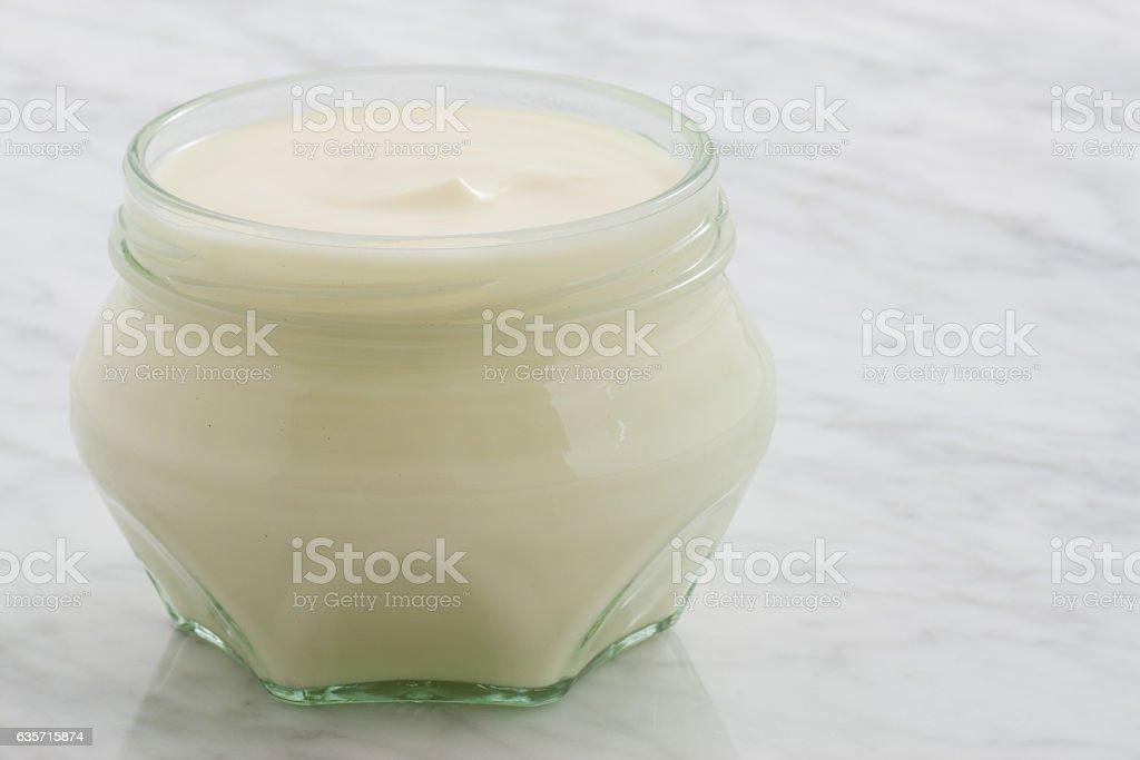 plain yogurt royalty-free stock photo