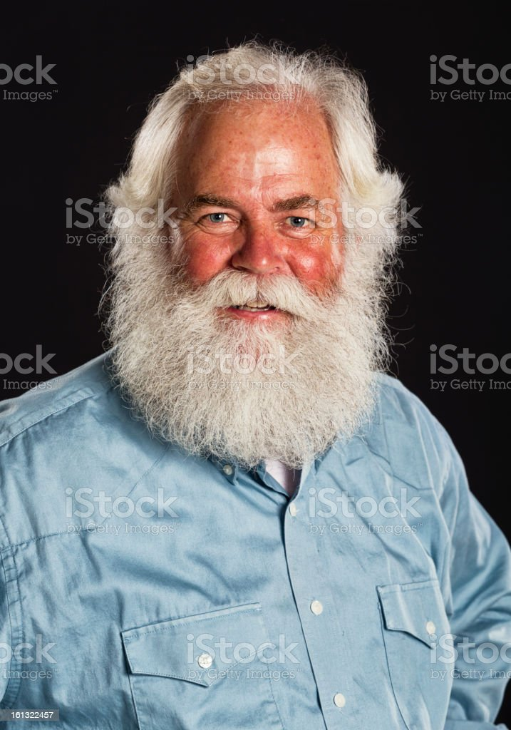 Plainclothes Santa Claus royalty-free stock photo