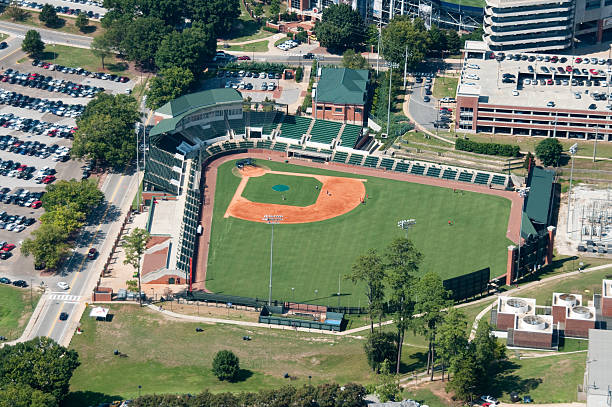 Plainsman Park in Auburn stock photo
