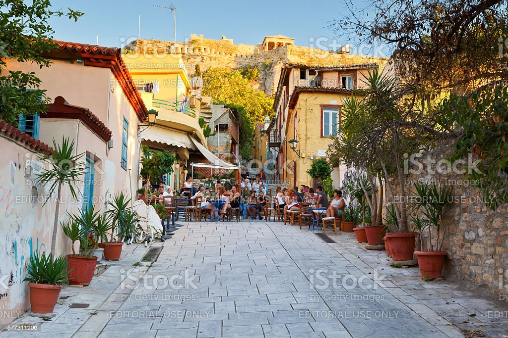 Plaka, Athens. stock photo