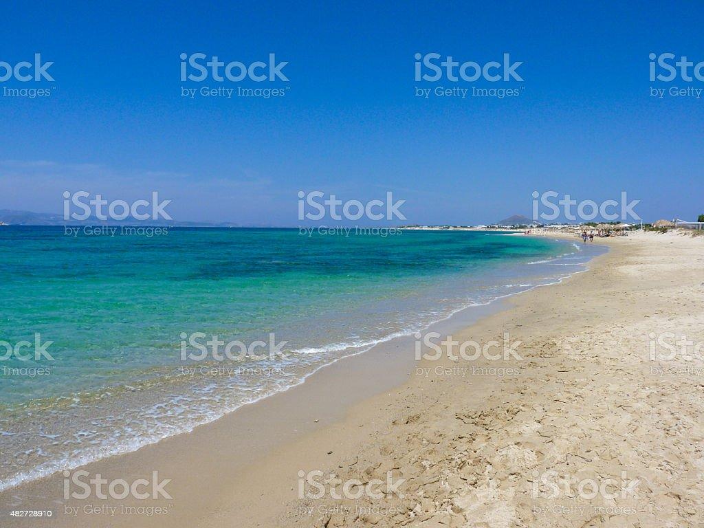 Plaka beach stock photo